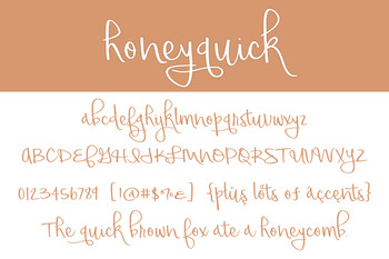 Honeyquick Font for Commercial Use