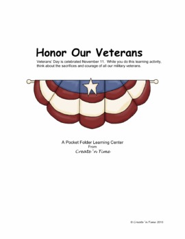 Honor Our Veterans Puzzle Packet Vocabulary Activity Learning Center