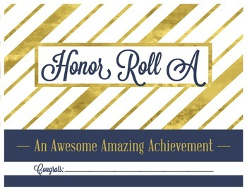 Honor Roll A Certificate