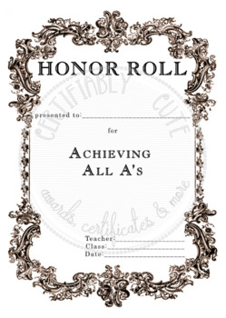 Honor Roll All A's