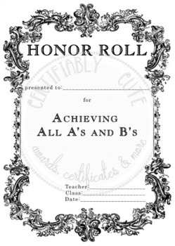 Honor Roll All A's and B's