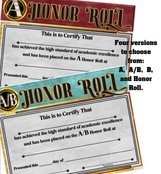 Honor Roll Awards ~ Set 1