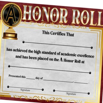 Honor Roll Awards ~ Set 2