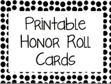Honor Roll Cards