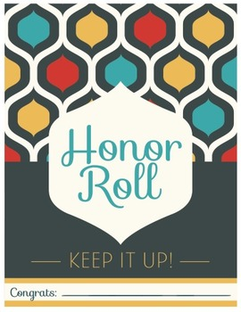 Honor Roll Certifcate - 70's Style