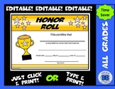 Honor Roll Certificate - Editable