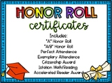 Honor Roll Certificates **Now Editable**