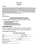 Honor Society Application