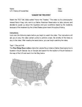 Honor The Treaties Worksheet
