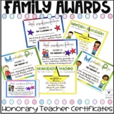 Honorary Teacher Awards l Distance Learning l End of the Year