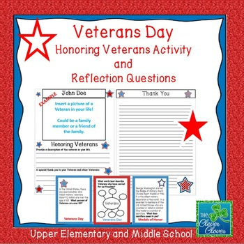 Veterans Day - Reflection Activity and Questions