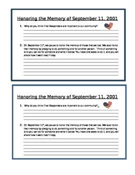 Honoring the Memory of September 11th