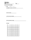 Honors Algebra 2 Chapter Test (Quadratic Functions)