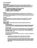 Honors Biology Syllabus