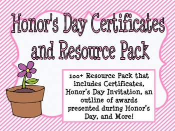 Honor's Day Certificates and Resource Pack