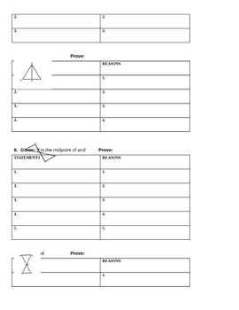 Honors Geometry ASA, AAS, and HL Proof Practice