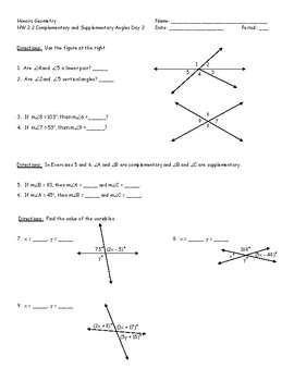 Honors Geometry Chapter 2 Early Concepts and Proofs