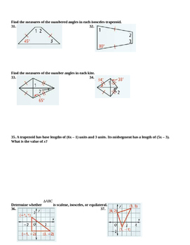 Honors Geometry: Chapter 6: Polygons and Quadrilaterals