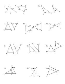 Honors Geometry Chapter 8 Similar Polygons