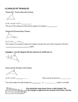 Honors Geometry Triangle Notes
