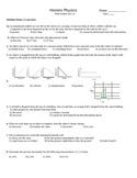 Honors physics semester 1 final exam