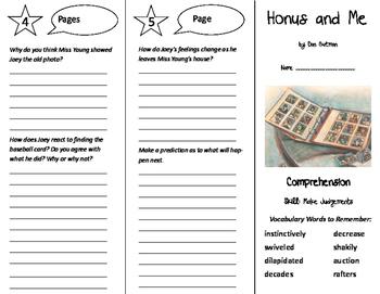 Honus and Me Trifold - California Treasures 6th Grade Unit 3 Week 5