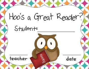 Hoo Awards- writing, reading, artist, great student