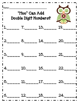 """Hoo"" Can Add Double Digit Numbers? (With Regrouping)"