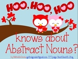 """""""Hoo"""" Knows About Abstract Nouns?"""