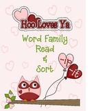 Hoo Loves Ya Word Family Sort
