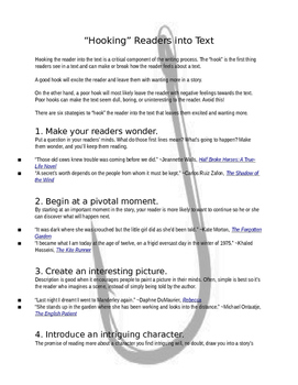 Hook Guided Notes