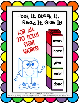 Hook It, Stack It, Read It, Glue It!  BUNDLE (All 220 Dolch Sight Words)