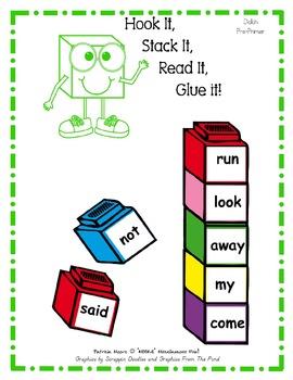 Hook It, Stack It, Read It, Glue It!   Dolch Pre-Primer