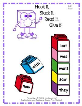 Hook It, Stack It, Read It, Glue It!   Dolch Primer