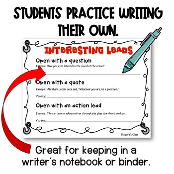 Writing Leads and Introductions