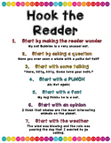 Hook the Reader - Writing