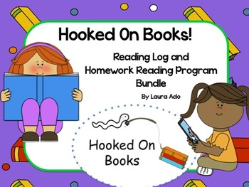 Hooked On Books Reading Logs, Parent Letters & Tracking Spreadsheet