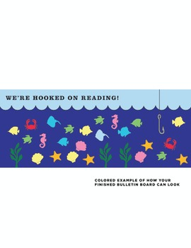 Hooked on Reading Classroom Bulletin Board DIY Kit