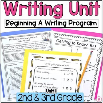 Hooked on Writing 2nd & 3rd Grade: August