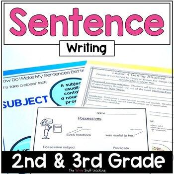 Hooked on Writing Unit 2 Sentences