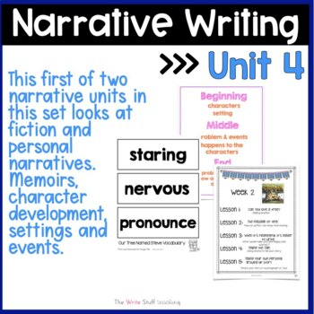 Hooked on Writing November: Personal Narratives & Sentence Fluency