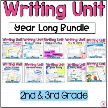 Hooked on Writing 2nd and 3rd Grade Year Long Writing Bundle {Back to School}