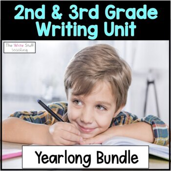 Year Long Writing Curriculum With Growth Mindset for 2nd and 3rd Grade