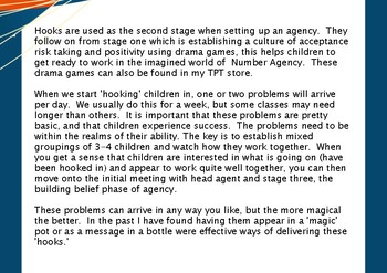Hooking Children Into Agency - Stage Two