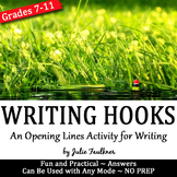 Hooks & Introductions, An Opening Lines Writing Activity