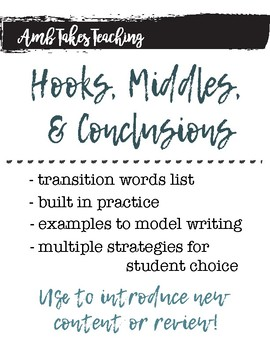 Hooks, Middles, & Conclusions in Writing