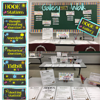 Hooks and Leads WORKSHOP Stations | Centers with Gallery Walk Complete Toolkit