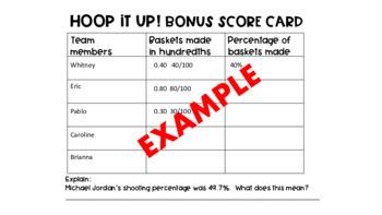 Hoop It Up! Fractions & Decimals