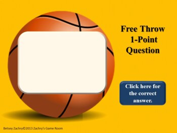 Hoops Star! Basketball PowerPoint Game Template