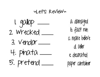 Hooray, A Pinata Vocabulary review